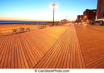 este, sziget, nyúl, ny megállapít, tengerpart, brighton