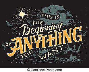 este, tu, começando, querer, coisa