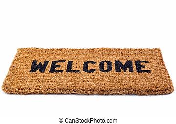 esteira bem-vinda, recorte