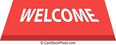 esteira bem-vinda