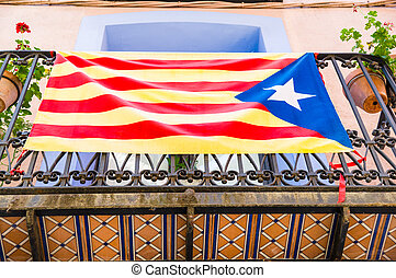 Estelada, the Catalan independentist flag