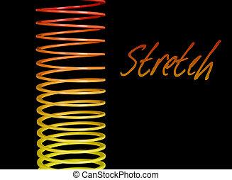 estendido, bobina, -, expansão, metáfora, isolado, sobre,...