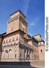 estense, italy., castle., emilia-romagna.