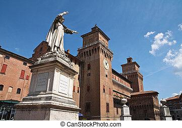 estense, italy., castle., emilia-romagna., ferrara.