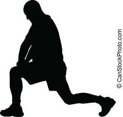 estensione, silhouette, gamba