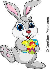 ester, carino, uovo, coniglio