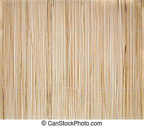 estera, lugar, bambú
