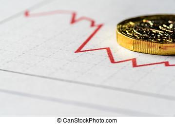esterlino, libra, Mapa, britânico, um, taxa, Novo, moeda