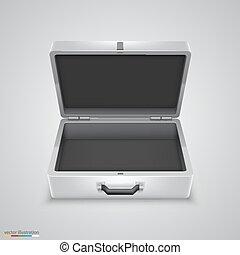 esterno, briefcase metallo