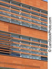 esterno costruzione, concreto, e, mattone, costruzione