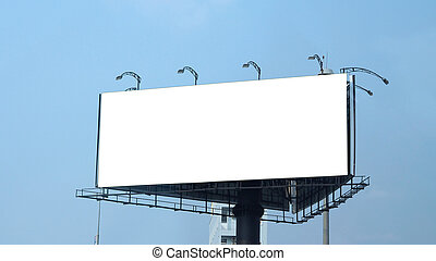 esterno, grande, tabellone, vuoto, advertising., formato