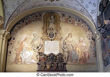 esterno, italia, bologna, atrio, archiginnasio