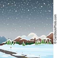 esterno, paesaggio inverno