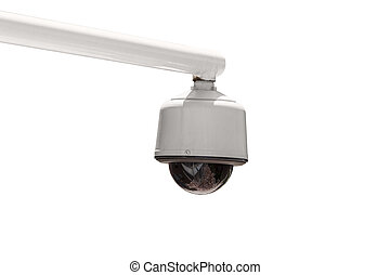 esterno, sicurezza, macchina fotografica, isolato