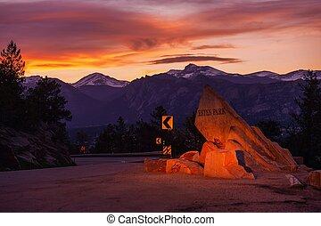 Estes Park Colorado. Getaway to Rocky Mountain National Park. Estes Park, Larimer County, Colorado, United States.