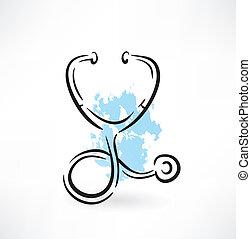 estetoscópio, ícone