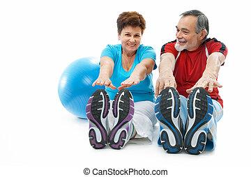 esticando exercício