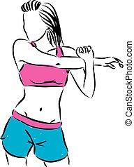 esticar mulher, condicão física