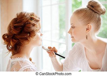 estilista, maquillaje, novia, boda, marcas, día