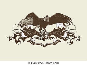 estilizado, águila