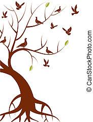 estilizado, árbol