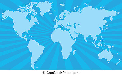 estilizado, mapa del mundo