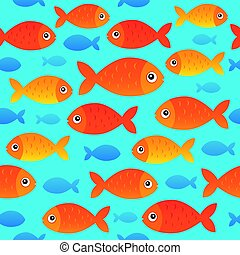 estilizado, peces, 2, seamless, plano de fondo