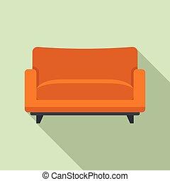 estilo, ícone, apartamento, poltrona, sofá