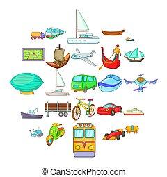estilo, ícones, jogo, mudança, mundo, caricatura