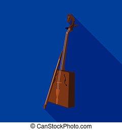 estilo, acción, símbolo, instrumentos, musical, de madera, ...