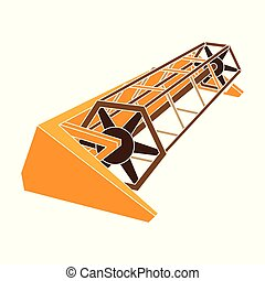 estilo, acción, símbolo, tractor, maquinaria del metal, ...