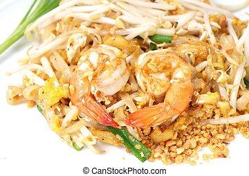 estilo, alimento,  N, Bata frito, tailandés, arroz
