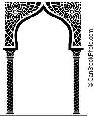 estilo, arco, árabe