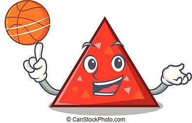 estilo, baloncesto, carácter, triangel, caricatura