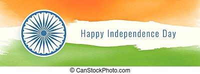 estilo, bandeira índia, bandeira, dia, independência, feliz