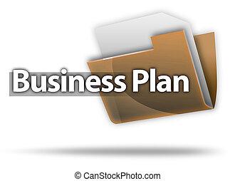 """estilo, """"business, plan"""", carpeta, 3d, icono"""