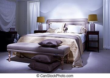 estilo, cama, clásico