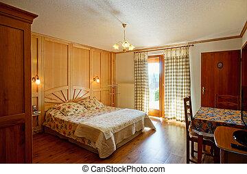 estilo, campo, casa, alsacien, cómodo, interior