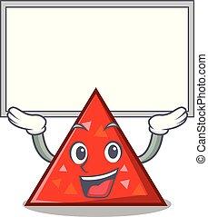 estilo, carácter, arriba, tabla, triangel, caricatura