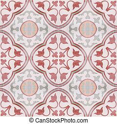 estilo, chão, vindima, textura, padrão experiência, azulejo