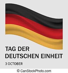 estilo, conceito, alemão, der, realístico, tag, deutschen, einheit, fundo