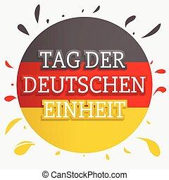estilo, conceito, alemão, mão, unidade, fundo, desenhado, dia