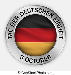 estilo, conceito, alemão, realístico, unidade, fundo, dia