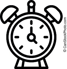 estilo, contorno, alarma, icono, reloj, dormitorio