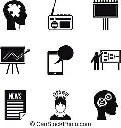 estilo, contorno, iconos, conjunto, razón, underlying