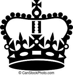 estilo, corona, calma, retener