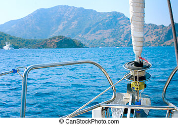 estilo de vida, sailing., yachting., yacht., lujo, tourism.