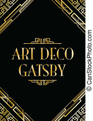 estilo, deco, arte, gatsby, fundo