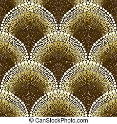 estilo, deco, arte, punteado, patrón, geométrico