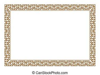 estilo del batik, frontera, oro